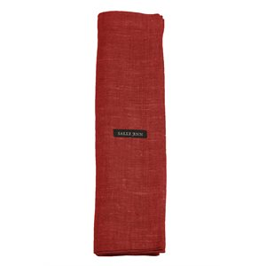 Red Linen Table Runner from Moldova