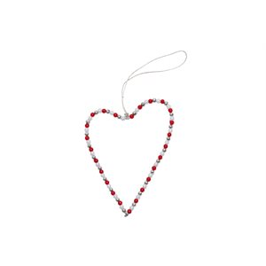 Wire heart red/silver/white Bangladesh