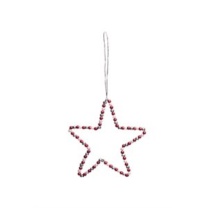 Wire star red/silver/white Bangladesh