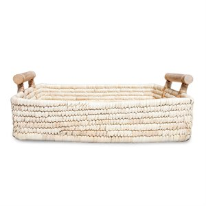 Large Basket with Wooden Handles