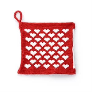 Potholder with Heart Accents