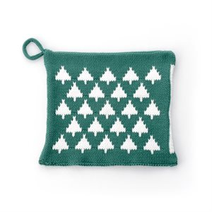 Potholder with Christmas Tree Accents