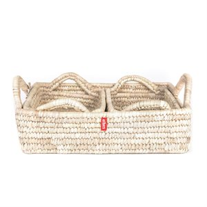 Leaf Basket (set of 3) natural