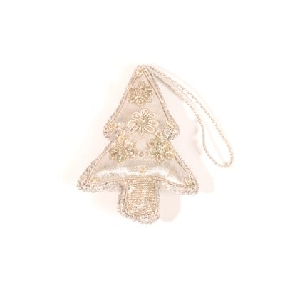 Christmas Tree Ornament Silver  Pakistan