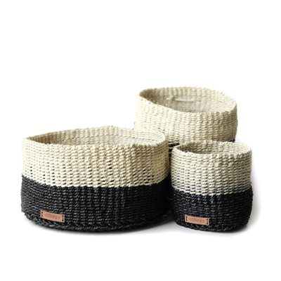 Sisal Basket White/Black