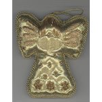 Embroidered Golden Angel Ornament